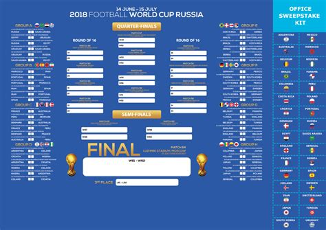 World Cup 2018 Russia – Table Schedule – HD Wallpaper