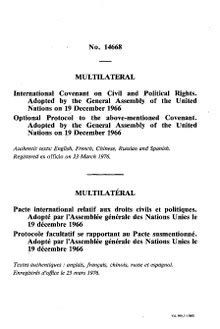 International Covenant on Civil and Political Rights