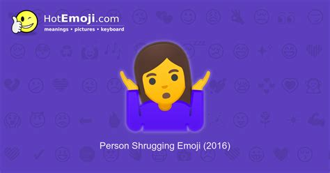 Shrug Emoji Meaning with Pictures: from A to Z