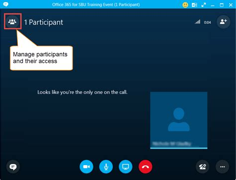 Navigating the Skype for Business Conversation Window