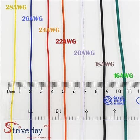 Striveday 1007 20 Awg Cable Copper Wire 30 Meters Red