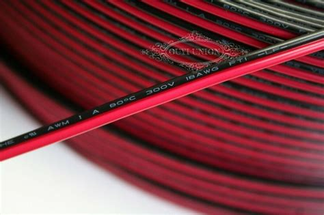 2-pin 18AWG 20AWG 22AWG 24AWG 26AWG 28AWG Black Red Cable