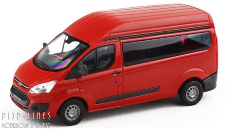"""Busch 52500 Ford Transit Custom """"Rood"""" - Pijp-Lines"""
