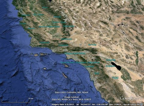 Spanish and Mexican Land Grants in California - GIS