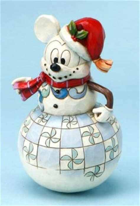 'Swaying to the Season' - Mickey Mouse as snowman figurine