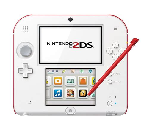 Nintendo 2DS Konsole weiss rot Limited Edition inkl