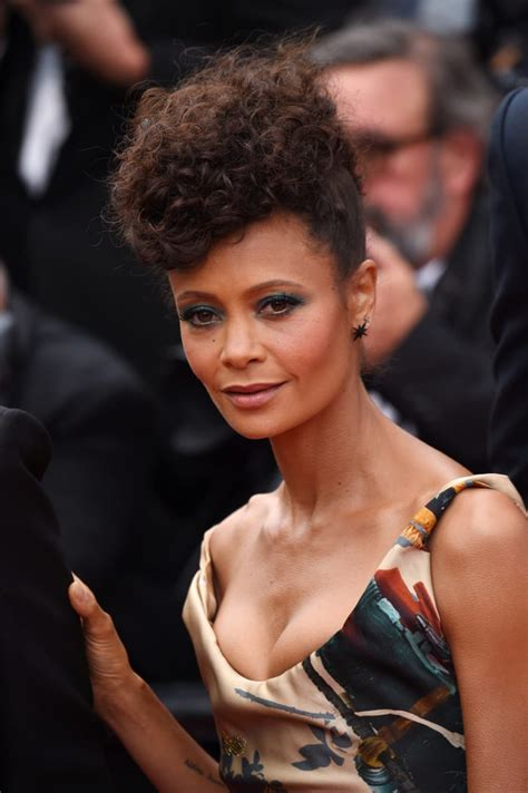 Thandie Newton Wore a Gown Covered in Black 'Star Wars