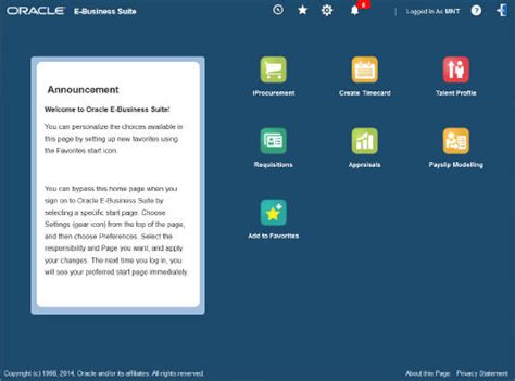 New Simplified Home Page in EBS 12