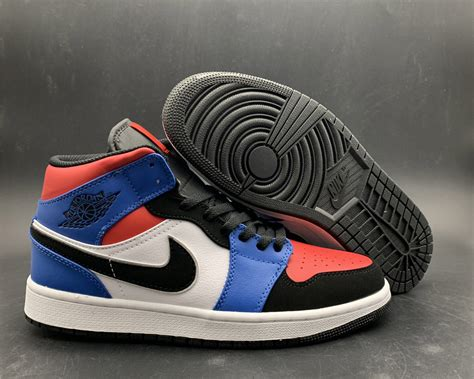 """Air Jordan 1 Mid """"Top 3"""" Black/Red-Blue For Sale – New"""