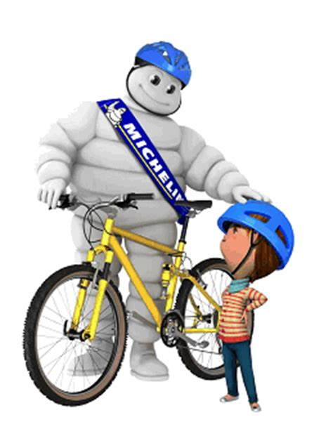 Michelin Man and Hincapie racers to air up tires at bike